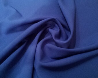 "Royal Blue - Polyester Bi-Stretch Panama Suiting Dress Fabric - 147cm (58"") Wide"