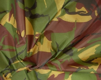 "Jungle - Camo Ripstop Army Military Camouflage Fabric Material - 59""/150cm wide- Rip-Stop"