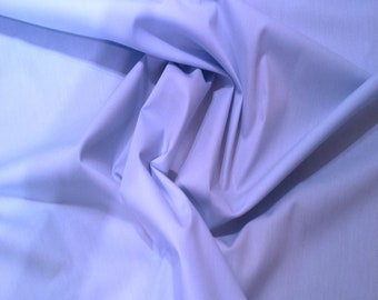 "Pale Blue - 100% Cotton Poplin Dress Fabric Material - Plain Solid Colours - Metre/Half - 44"" (112cm) wide"