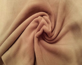 "Tan - Polar Fleece Fabric - Metre/Half - Anti Pil - 59"" (150cm) wide"