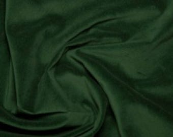 "Bottle Green Premium 100% Cotton Velvet Fabric Material - 112cm (44"") wide"