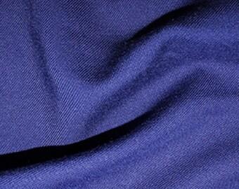 "Royal Blue - Plain Viscose Twill Dress Fabric Material - per Metre/Half - 55"" (140cm) wide"