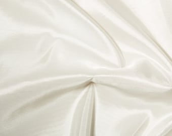"""Ivory Taffeta Fabric Polyester Material 145cm (57"""") Wide"""