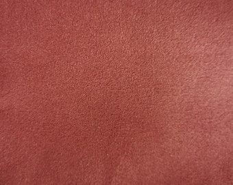 "Rose Pink - Scuba Faux Suede Stretch Fabric 100% Polyester Material -147cm (58"") wide"