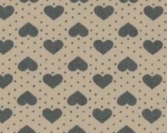 "Hearts and Spots - Green on White - 100% Cotton Poplin Dress Fabric - Material - Metre/Half - 44"" (112cm) wide"