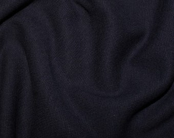 "Navy Blue - Stretch Cotton Tube Tubing Fabric Material - 37cm round (14.5"") wide"