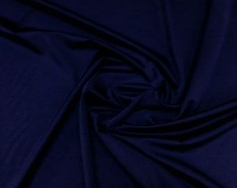 "Navy Blue - Plain Nylon/Spandex All-Way Stretch Fabric Material - 150cm (59"") wide per metre / half"