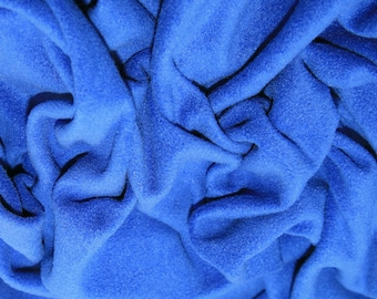 "Royal Blue - Polar Fleece Fabric - Metre/Half - Anti Pil - 59"" (150cm) wide"