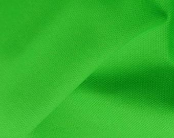 "Lime Green - 100% Cotton Canvas Fabric - Plain Solid Colour Material - 57"" (146cm) wide"