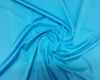 "Turquoise - Plain Lycra Spandex Stretch Fabric Material - 150cm (59"") wide per metre / half"