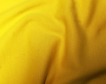 "Yellow - Stretch Cotton Tube Tubing Fabric Material - 37cm round (14.5"") wide"