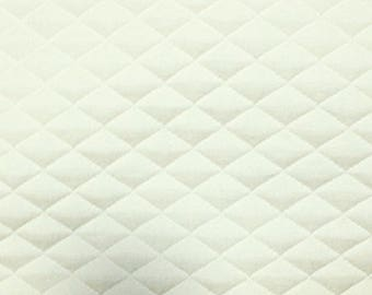 "Ivory - Stretch Quilting Fabric Material - Polyester - 150cm (59"") wide, 7 Colours, Diamond Pattern"