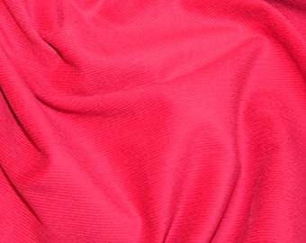 "Cerise Pink - Needlecord Cotton Corduroy 21 Wale Fabric Material - 140cm (55"") wide"