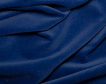 "Royal Blue Premium 100% Cotton Velvet Fabric Material - 112cm (44"") wide"