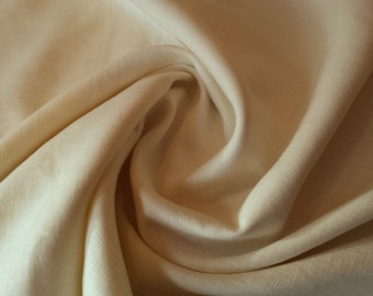 "Ivory Washed Linen - 100% Linen Fabric Material - 137cm (53"") wide"