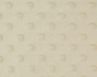 "Cream - Dimple Dot Popcorn Cuddle Soft Nipple Fleece Fabric - 150cm (59"") wide - per metre or half metre"
