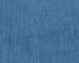 "Light Colour - Lightweight Washed 4oz Denim 100% Cotton Fabric Material 145cm (57.5"") Wide"