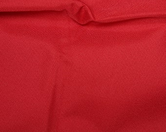 """Red - Soft Water Repellent Polyester PU Coated Fabric - Plain Solid Colours - 57"""" (145cm) wide"""