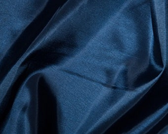 "Navy Blue Taffeta Fabric Polyester Material 145cm (57"") Wide"