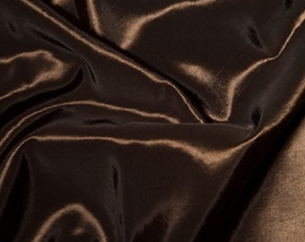 "Brown Taffeta Fabric Polyester Material 145cm (57"") Wide"