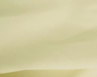 "Cream - 100% Cotton Canvas Fabric - Plain Solid Colour Material - 57"" (146cm) wide"