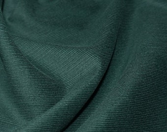 "Moss Green - Needlecord Cotton Corduroy 21 Wale Fabric Material - 140cm (55"") wide"