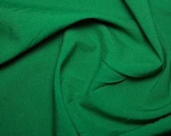 "Emerald Green - Polyester Bi-Stretch Panama Suiting Dress Fabric - 147cm (58"") Wide"