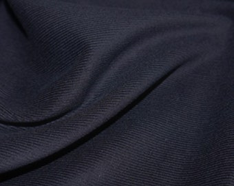 "Navy Blue - Needlecord Cotton Corduroy 21 Wale Fabric Material - 140cm (55"") wide"