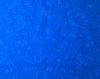 "Royal Blue - 100% Cotton Poplin Dress Fabric Material - Marbled Effect - 44"" (112cm) wide"