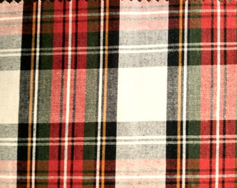 "Stewart Modern Dress - Flat Weave 100% Cotton Tartan Fabric Material - Double Sided - 147cm (58"") wide"