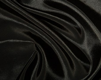 "Black Taffeta Fabric Polyester Material 145cm (57"") Wide"