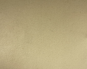 "Ivory/Cream - Scuba Faux Suede Stretch Fabric 100% Polyester Material -147cm (58"") wide"