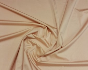 "Nude - Plain Lycra Spandex Stretch Fabric Material - 150cm (59"") wide per metre / half"