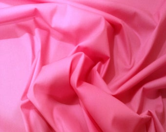 "Sugar Pink - 100% Cotton Poplin Dress Fabric Material - Plain Solid Colours - Metre/Half - 44"" (112cm) wide"