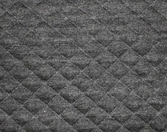 "Marl Grey - Stretch Quilting Fabric Material - Polyester - 150cm (59"") wide, 7 Colours, Diamond Pattern"