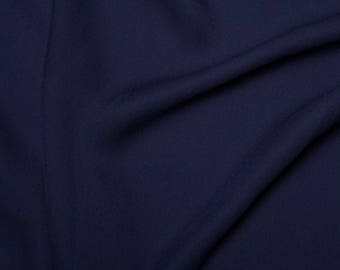 "Navy Blue - Double Georgette 100% Polyester Dressmaking Fabric Material 150cm (59"") Wide"