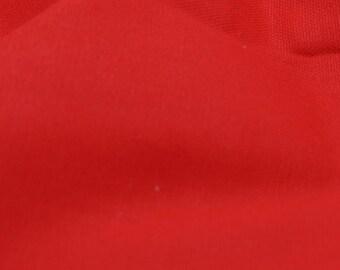 "Red - 100% Cotton Canvas Fabric - Plain Solid Colour Material - 57"" (146cm) wide"