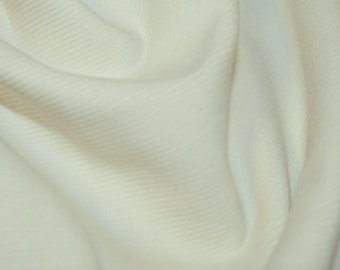 "Ivory / Cream / Ecru - Needlecord Cotton Corduroy 21 Wale Fabric Material - 140cm (55"") wide"