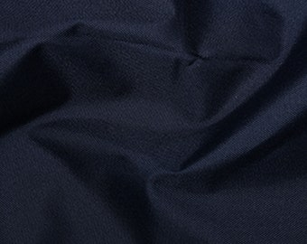 """Navy Blue - Soft Water Repellent Polyester PU Coated Fabric - Plain Solid Colours - 57"""" (145cm) wide"""