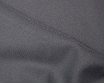 """Silver Grey - Polyester Twill Plain Fabric 150cm (59"""") Wide Dressmaking Material"""