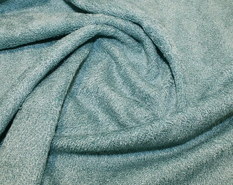 "Teal Bamboo Terry Towelling Fabric - Plain Solid Colours - Towel Material - 150cm (59"") wide"