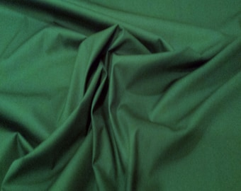"Bottle Green - 100% Cotton Poplin Dress Fabric Material - Plain Solid Colours - Metre/Half - 44"" (112cm) wide"