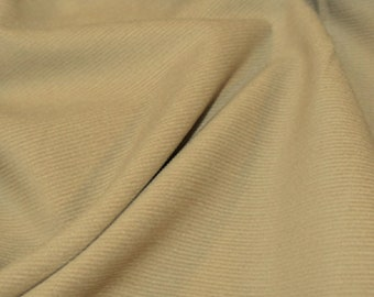 "Beige - Needlecord Cotton Corduroy 21 Wale Fabric Material - 140cm (55"") wide"