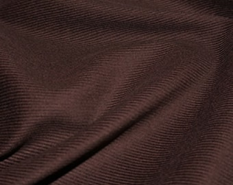 "Chocolate Brown - Needlecord Cotton Corduroy 21 Wale Fabric Material - 140cm (55"") wide"