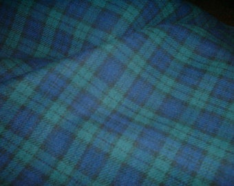 "Black Watch - Tartan Fabric - Brushed Cotton - Metre/Half - 59"" (150cm) wide"