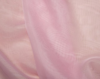 "Pale Pink Voile Fabric Polyester Material 150cm (59"") Wide Craft/Curtain"