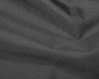 """Grey - Soft Water Repellent Polyester PU Coated Fabric - Plain Solid Colours - 57"""" (145cm) wide"""