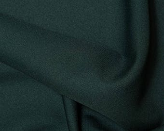 "Bottle Green - Polyester Twill Plain Fabric 150cm (59"") Wide Dressmaking Material"