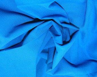 "Turquoise - Linen Look 100% Cotton Dress Fabric Material - Metre/Half - 58"" (145cm) wide"