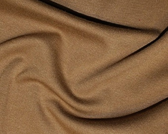 Camel - Ponte Roma Soft Knit Jersey Stretch Fabric Polyester Viscose Fabric 150cm Wide